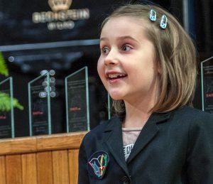 Zdobywczyni pierwszej nagrody w najmłodszej grupie Maria Roszczyńska Fot. Marian Paluszkiewicz