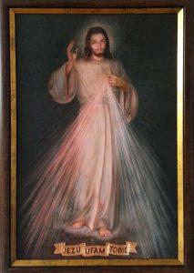 Najbardziej znanym obecnie na świecie obrazem Jezusa Miłosiernego jest obraz autorstwa Adolfa Hyły