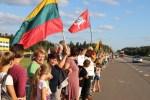 Impreza, poświęcona 30. rocznicy Szlaku Bałtyckiego w rejonie wileńskim