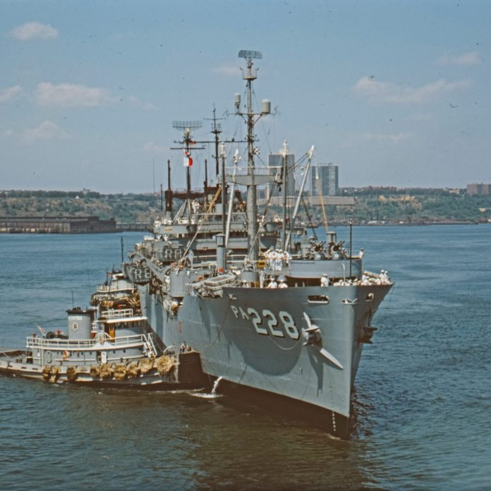 Naval Vessel, New York Harbour, August 1966