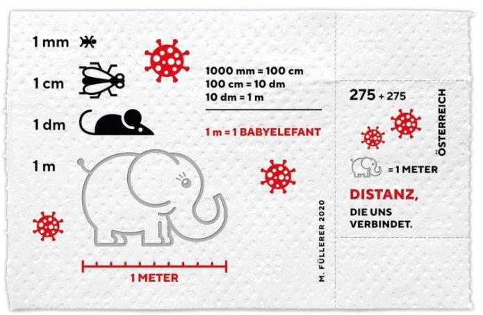 W Austrii wyemitowano znaczek z papieru toaletowego jako upamiętnienie pandemii