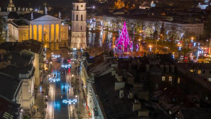 Wilno ukrasiły nowe dekoracje świąteczne