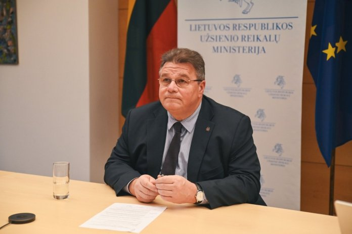 Linas Linkevičius podczas posiedzenia Rady Ministrów OBWE