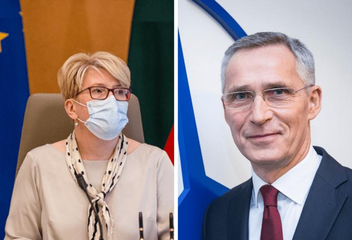 Šimonytė i Stoltenberg omówili możliwość zorganizowania szczytu NATO na Litwie