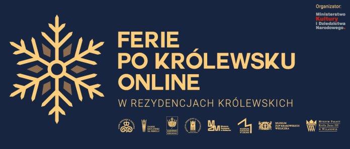Ferie po królewsku online, plakat promujący wydarzenie