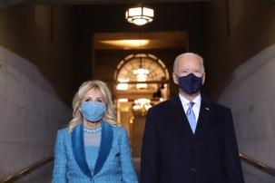 46, Prezydent USA, Joe Biden, wraz z małżonką, dr Jill Biden, w drodze na ceremonię zaprzysiężenie