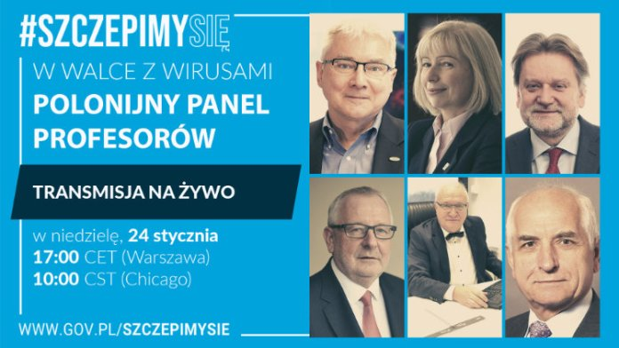 Polonijny panel profesorów #SzczepimySię już wkrótce
