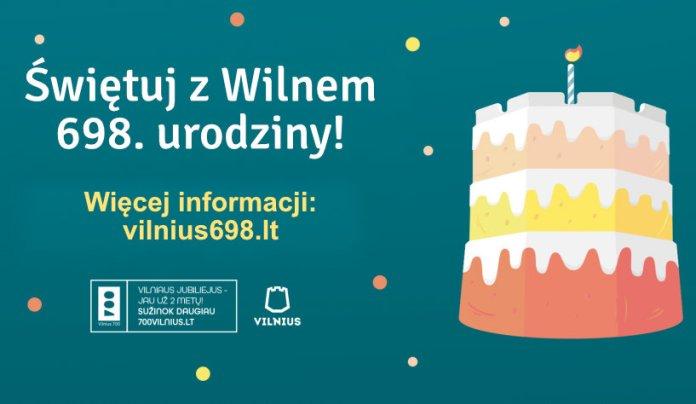 698. urodziny Wilna. Miasto zachęca do świętowania w domu