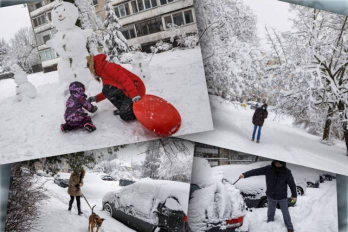 Dzieci radosne, kierowcy źli, dzieci kierowców zmieszane. Obfite opady śniegu [GALERIA]