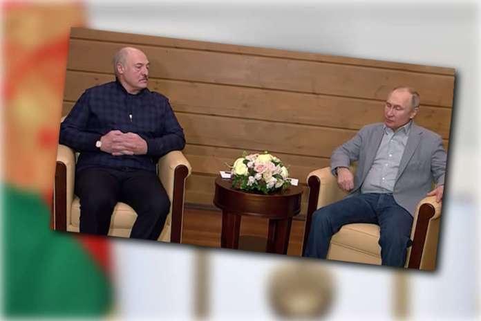 Łukaszenka i Putin w Soczi