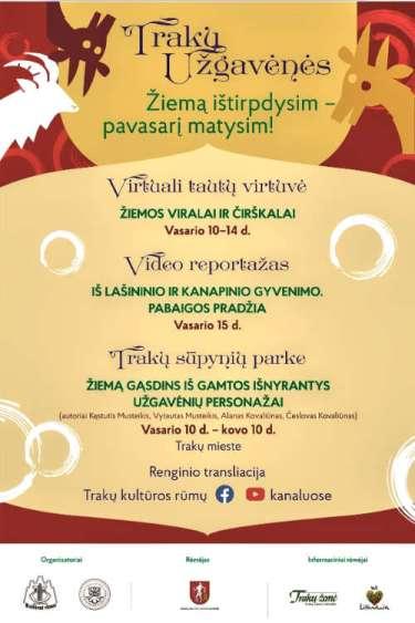 Plakat promujący wydarzenie w Trokach.