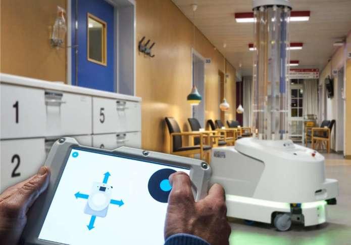 Robot dezynfekujący ultrafioletem już na Litwie — będzie ich więcej
