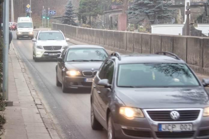 Samochody na Rossie w Wilnie na Litwie