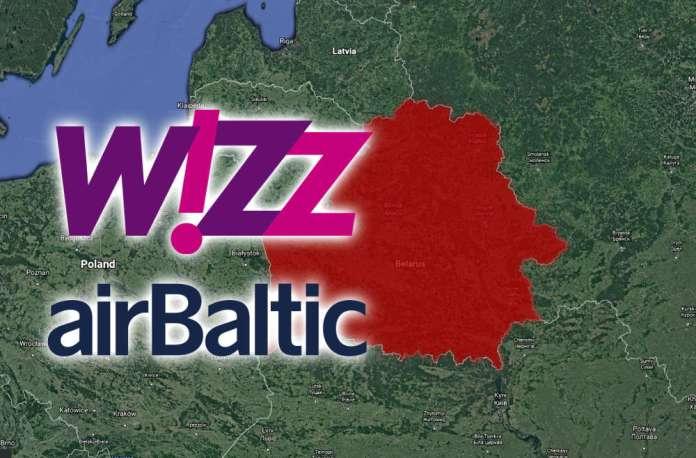 Wizz Air i Air Baltic: Loty omijają białoruską przestrzeń powietrzną