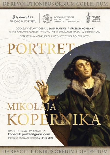 """Konkurs dla młodzieży z wyjątkowo atrakcyjnymi nagrodami — """"Portret Mikołaja Kopernika"""""""