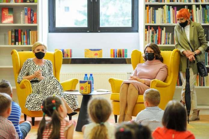 Pierwsze damy Polski i Litwy w Bibliotece Mažvydasa — patronując konferencji o dostępności informacji