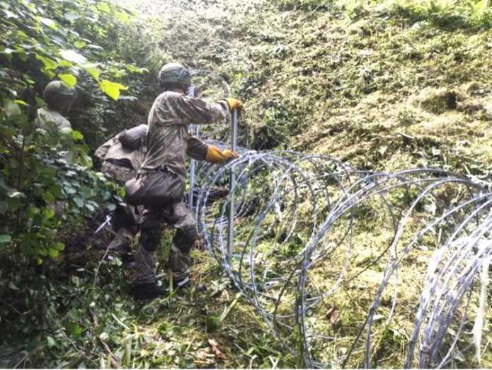 Ukraina przekaże Litwie drut kolczasty do budowy ogrodzenia na granicy