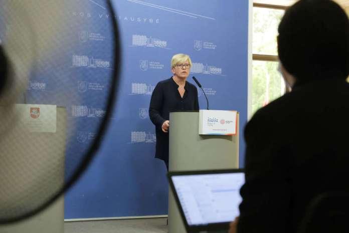 Konferencja prasowa Ingridy Šimonytė w sprawie kryzysu migracyjnego na Litwie oraz Dziewieniszek