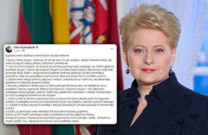 """Grybauskaitė radzi, jak opanować kryzys migracyjny? """"Nie pozuj przy ogrodzeniu, którego nie ma"""""""