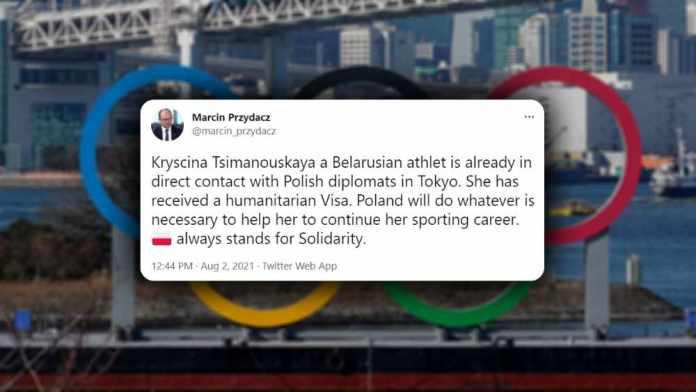 Polska udzieliła Cimanouskiej wizę humanitarną. W najbliższych dniach przyleci do Warszawy