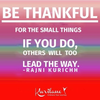 Be Thankful For Small Things