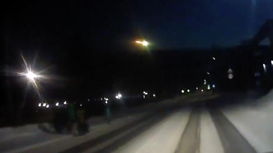 В Красноярске похоже упал метеорит