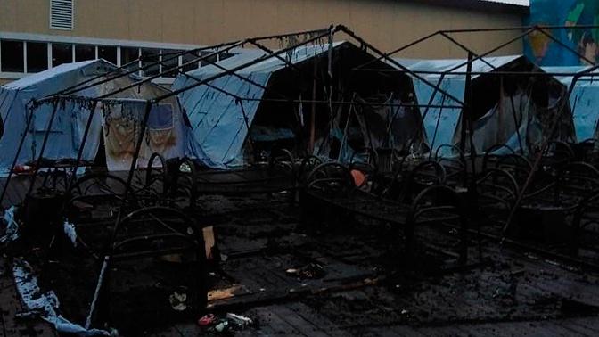 В Хабаровском крае сгорел детский палаточный лагерь «Холдоми»