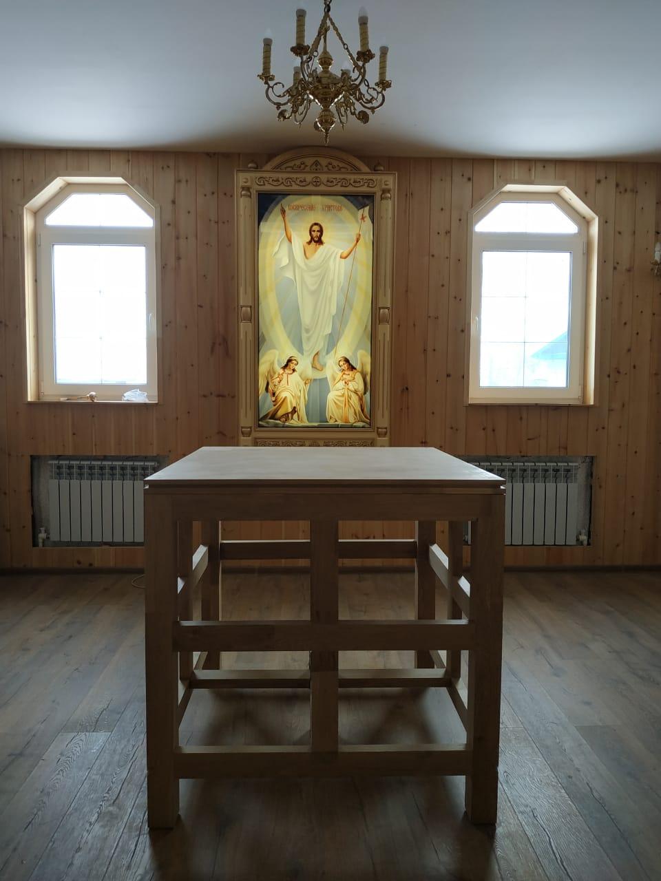 Жертвенник, престол и запрестольная икона установлены в храме Марии Магдалины в ЕАО