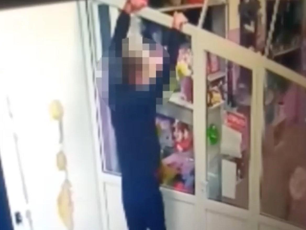 Ничего не подарил ребенку на день рождения и поэтому украл букет с игрушками  ранее судимый биробиджанец (ВИДЕО)