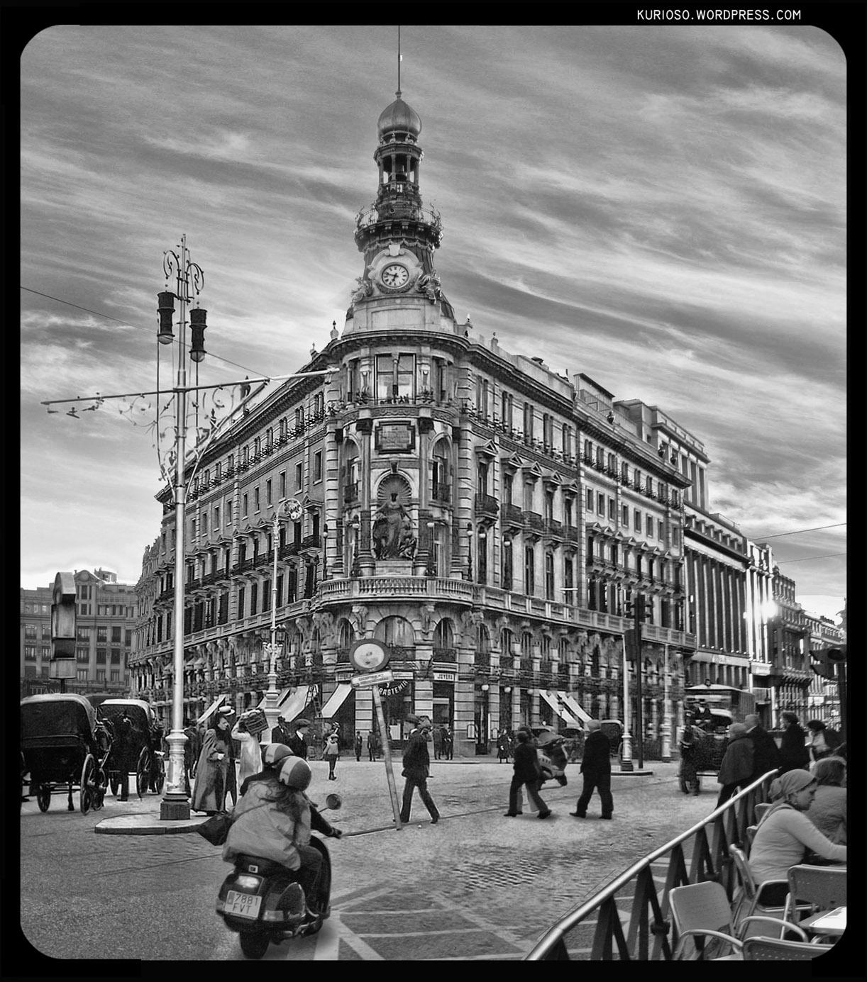 La Equitativa de la calle Sevilla. 1915 y 2009
