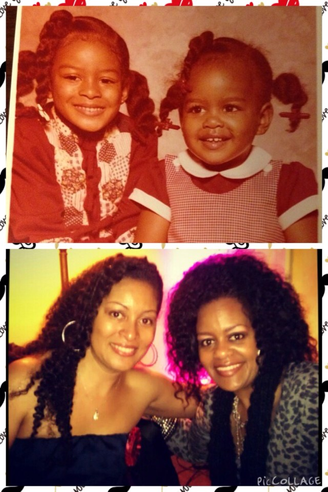 I posted this of us - from babies to my 40th birthday!