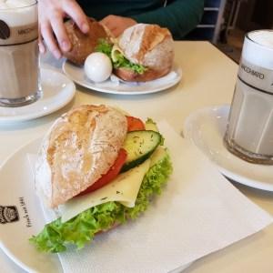 Frankfurt, Frühstück, Latte Macchiato