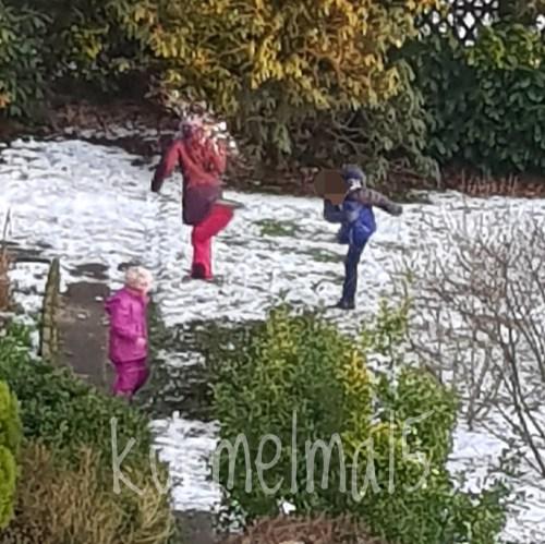 Schneeballschlacht, Winter, Schnee