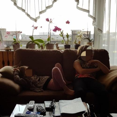 Sofa, liegen, faulenzen