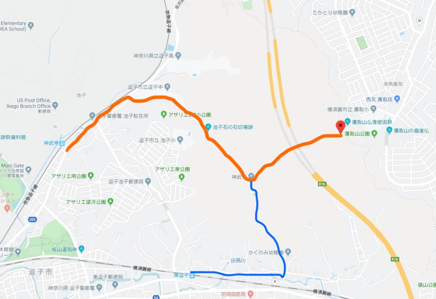 鷹取山ルート