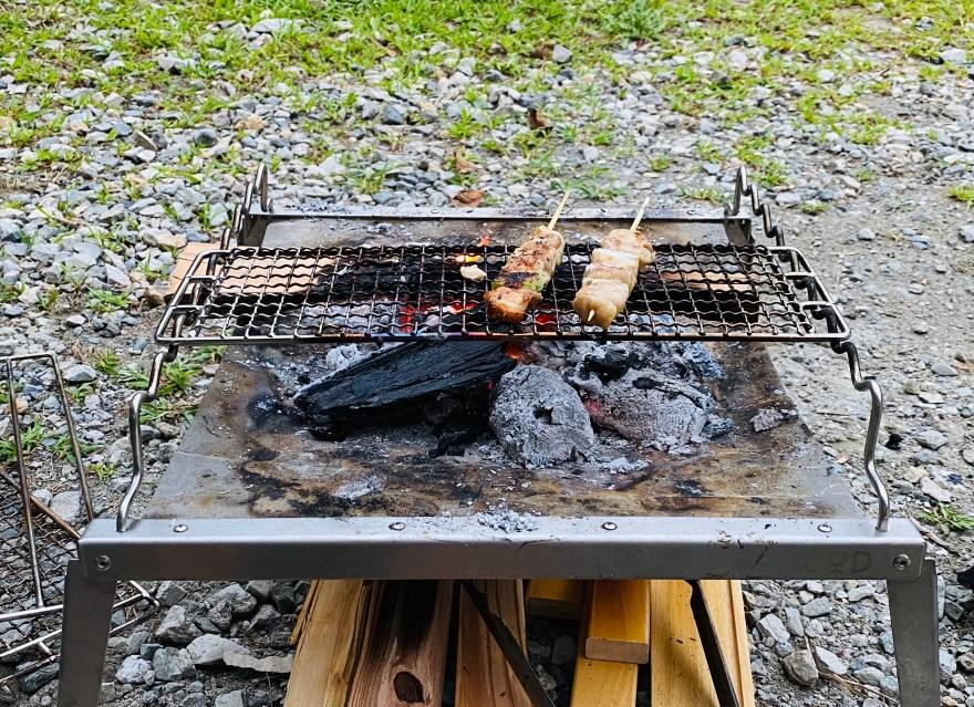 キャンプ飯 焼き鳥