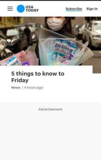 example of ad blocker on usatoday
