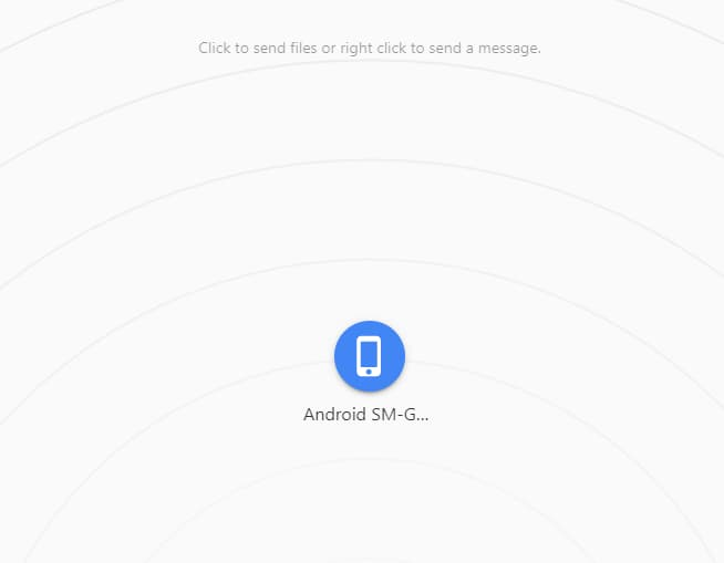 Using Snapdrop to share files between Android and Windows