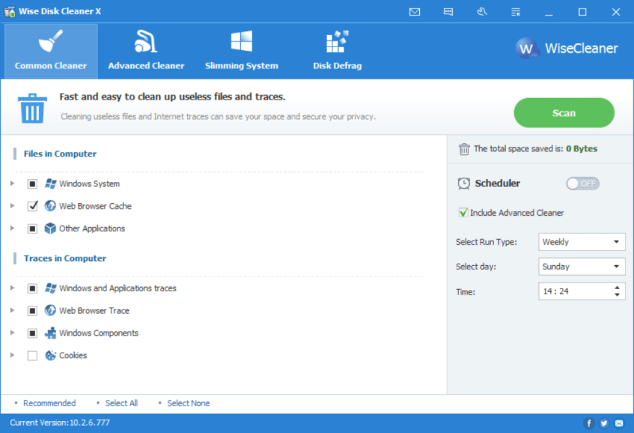 The main interface of Wise Disk Cleaner