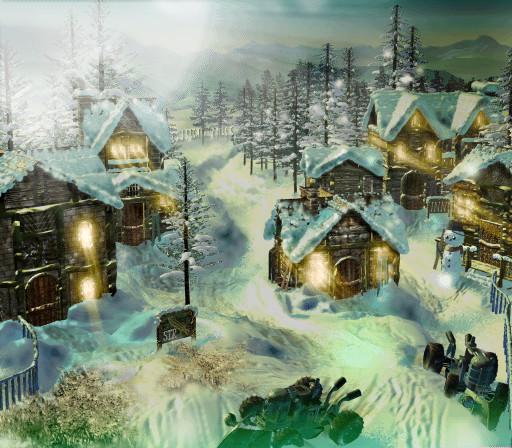 Final Fantasy VII snow town