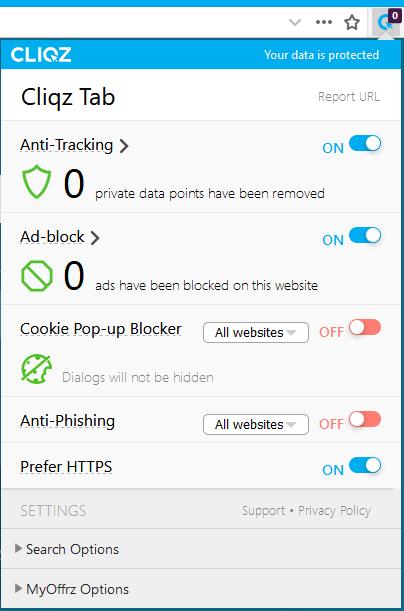 Cliqz tab