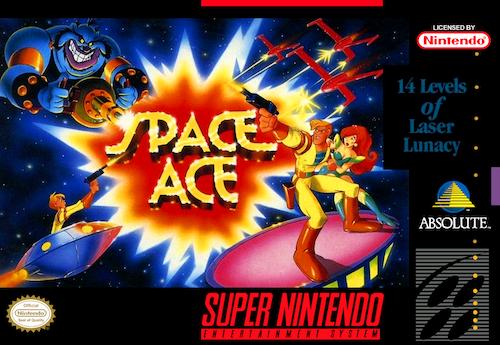 space ace snes box art