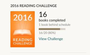Skjermskudd Goodreads reading challenge
