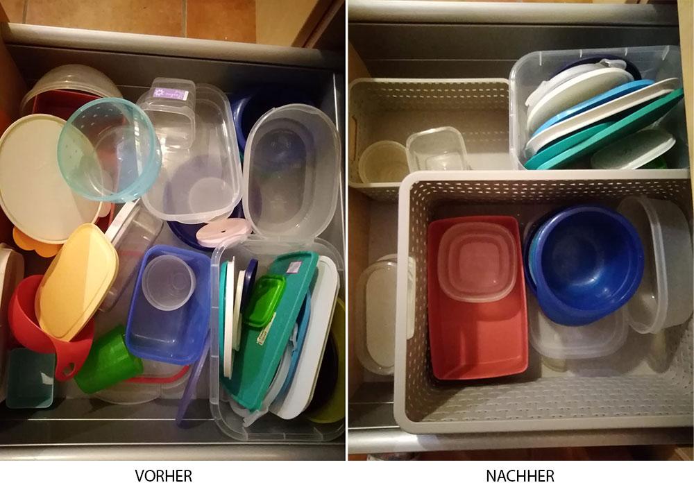 Erfolg Ordnung in der Küche - Plastikbehälter