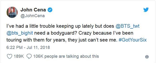 twitter john cena bodyguard bts