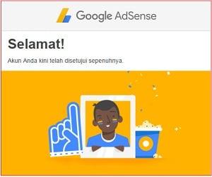 email ucapan selamat dari Google