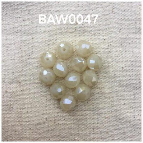 Manik kristal bulat 10 mm,white opaque