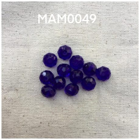 Manik kristal 10 mm,dark blue opaque