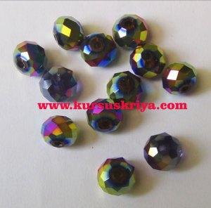 Manik kristal bulat 10 mm,pelangi
