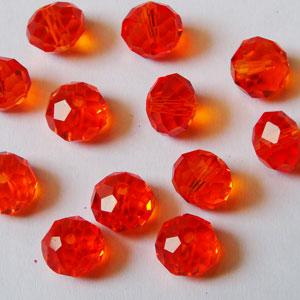 Manik kristal orange 10 mm